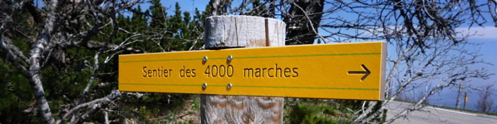 panneau du sentier des 4000 marches
