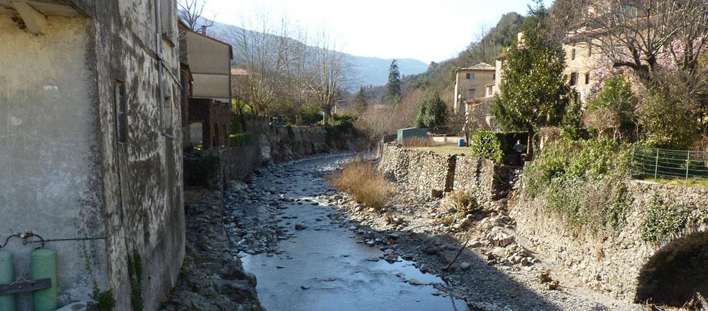 Valleraugue et rivière Hérault